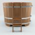 Купель двухместная деревянная