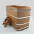 Купель прямоугольная деревянная